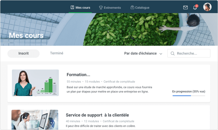 Plateforme iSpring Learn LMS