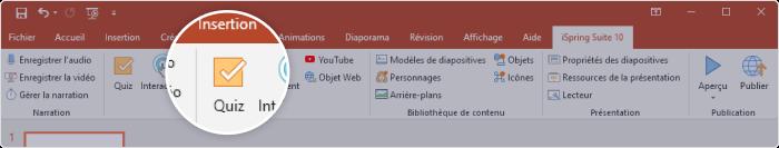 iSpring Suite aide à améliorer vos diapositives avec du contenu interactif et à les convertir au format SCORM.