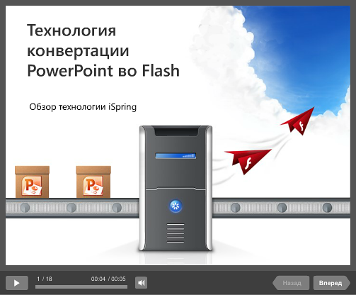 AccuPoint | Technologie PowerPoint au format Flash
